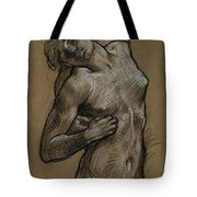 Study For And The Sea Gave Up The Dead Which Were In It Tote Bag