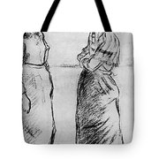 Study For The Cat Camille Pissarro Tote Bag