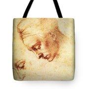 Study For The Head Of Leda Tote Bag