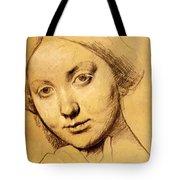Study For Vicomtesse D Hausonville Born Louise Albertine De Broglie Tote Bag