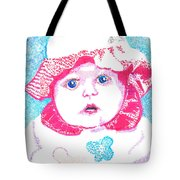 Study In Blue And Pink Tote Bag