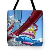 Study In Shipboard Waterslides Tote Bag