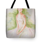 Study Of A Ballerina Tote Bag