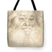Study Of A Bearded Man [verso] Tote Bag