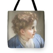 Study Of A Boy In A Blue Jacket , Benedetto Luti Italian, Florence 1666-1724 Rome Tote Bag