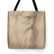 Study Of A Character Head Tote Bag