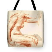 Study Of A Female Nude Seated Tote Bag