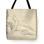 Study Of A Female Nude  Tote Bag by William Hogarth