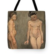 Study Of A Naked Model Tote Bag