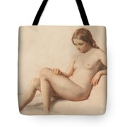 Study Of A Nude Tote Bag by William Mulready