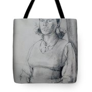 Study Of A Seated Girl. Tote Bag