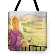 Study Of A Wine Ad Tote Bag