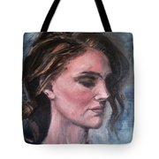 Study Of A Woman In Moonlight #1 Tote Bag