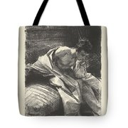 Study Of A Young Man, Seated ,john Singer Sargent Tote Bag