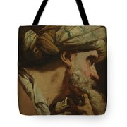Study Of An Oriental Head Tote Bag