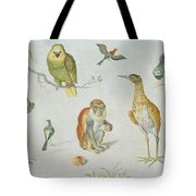 Study Of Birds And Monkeys Tote Bag