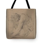 Study Of Man's Figure Stooping To Pick Up An Object Tote Bag