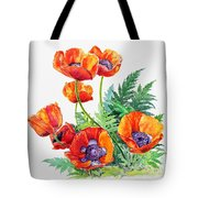 Study Of Poppies Tote Bag