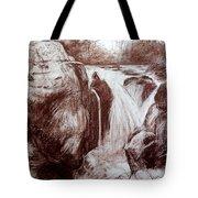 Study Of Rocks At Betws-y-coed Tote Bag