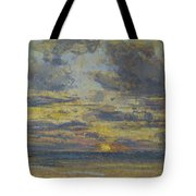 Study Of The Sky With Setting Sun Tote Bag