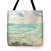 Study Of Tropical Blue Tote Bag