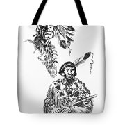 Study Of Two Indians Tote Bag
