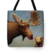 Study Of Two Mammals Tote Bag