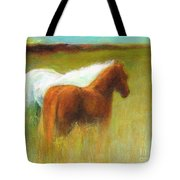 Study Of Two Ponies Tote Bag