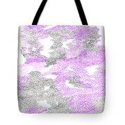 Study Purple And Gray Tote Bag