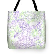 Study Purple And Green Tote Bag