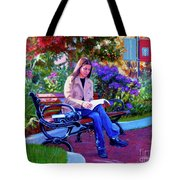 Studying Before Class Tote Bag