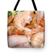 Stuffed Squid Fried With Shrimp Tote Bag