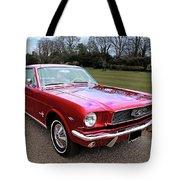 Stunning 1966 Metallic Red Mustang Tote Bag