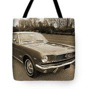 Stunning '66 Mustang In Sepia Tote Bag