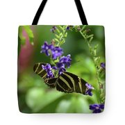 Stunning Black And White Zebra Butterfly In The Spring Tote Bag