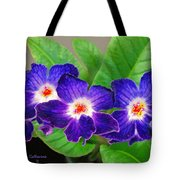 Stunning Blue Flowers Tote Bag