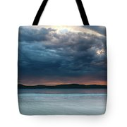 Stunning Cloudy Sunrise Seascape Tote Bag