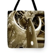 Stunning Propeller In Sepia Tote Bag by Dennis Dame