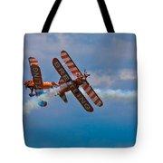 Stunt Biplanes With Wingwalkers Tote Bag