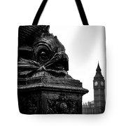 Sturgeon Lamp Post With Big Ben London Black And White Tote Bag