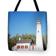 Sturgeon Point Lighthouse, Michigan - Horizontal Tote Bag