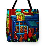 St.viateur Bagel And Hockey Kids Tote Bag