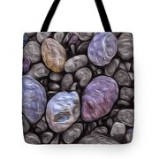 Stylized Beach Stones On Lake Superior Tote Bag