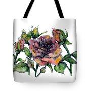 Stylized Roses Tote Bag by Lauren Heller