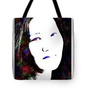 Stylized Woman's Portrait Tote Bag