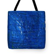 Subatomic Particles In Blue State Tote Bag