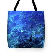Submarine Underwater View Tote Bag