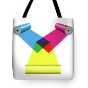 Subtractive Color Mixing With Print Cylinders Tote Bag