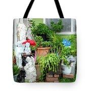 Suburban House With Front Yard Religious Shrine Hayward California 10 Tote Bag