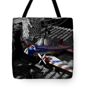 Suburban Safari  The Zebra Strikes Back Tote Bag